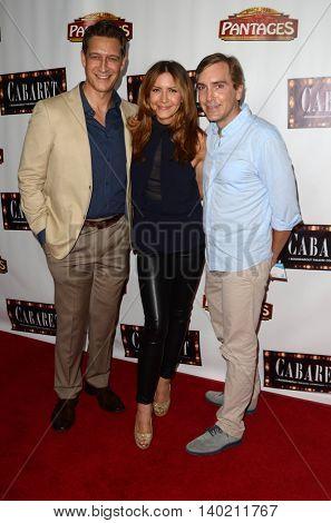 LOS ANGELES - JUL 20:  Robert Gant, Michelle Clunie, Scott Lowell at the