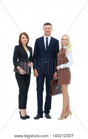 Three successful business person.