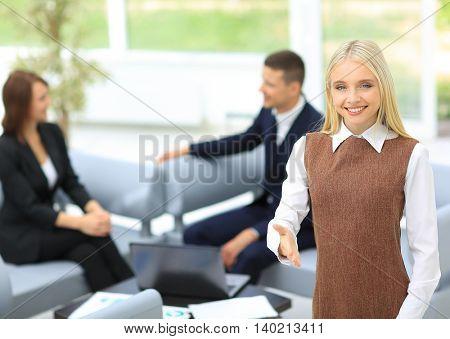 Beautiful modern businesswoman