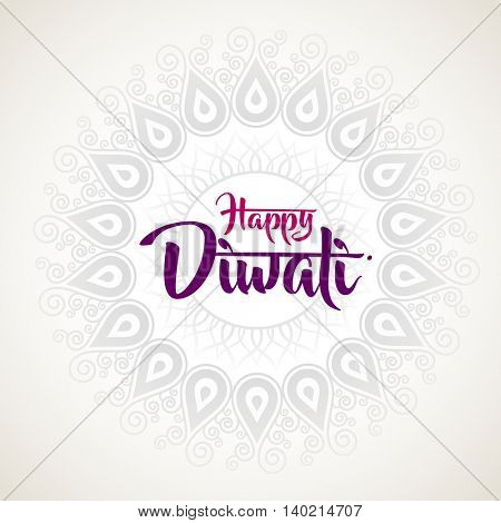happy diwali with ornament of henna
