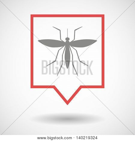 Isolated Line Art Tooltip Icon With  A Mosquito