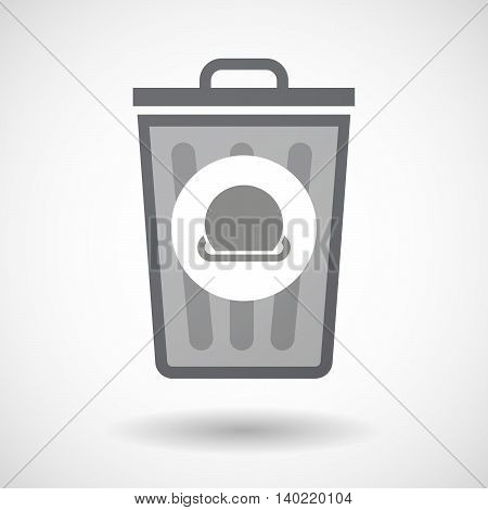 Isolated Trash Can Icon With  A  Coin Entering In A Moneybox