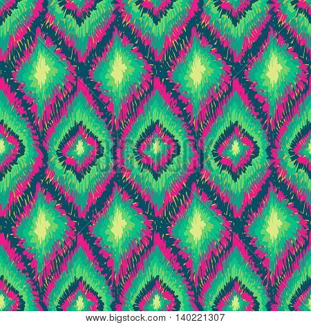 Aztec Ethnic Tribal Ornament Pattern Green