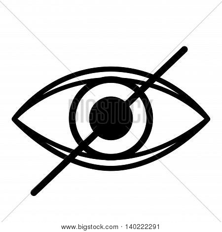 eye blind isolated icon design, vector illustration  graphic