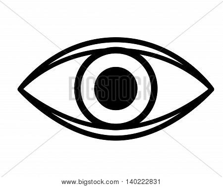 eye isolated icon design, vector illustration graphic
