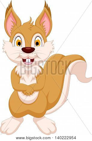 cute squirrel cartoon standing for you design