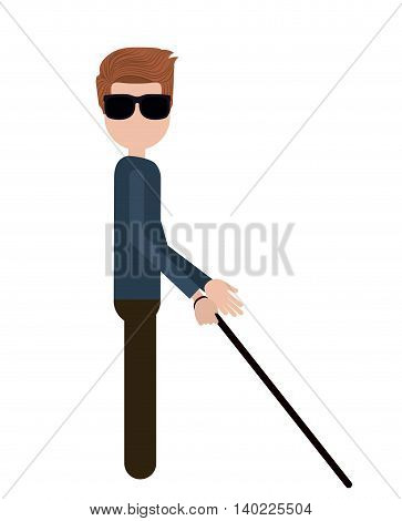 blind person isolated icon design, vector illustration  graphic