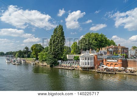 Kingston up on Thames in south west London