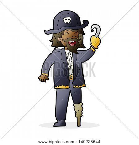 cartoon pirate captain