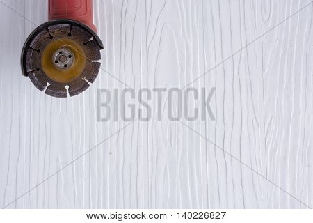 Red steel cutter  on white pattern  background suitable for background masonry and craftsman tool or equipment or household or background tool.2