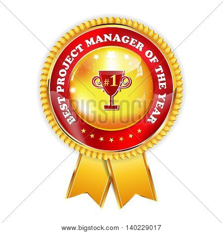 Best Project manager of the Year - business award ribbon for companies that appreciate their project managers.