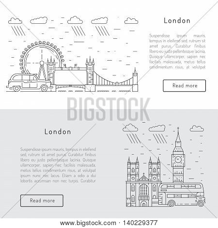 Historical and modern symbols of London and the UK.