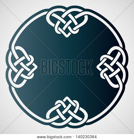 Openwork round element with celtic motif. Laser cutting template for greeting cards envelopes wedding invitations interior decorative elements.