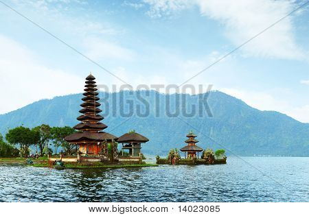 Hindu temple Bratan on a lake. Bali. Indonesia