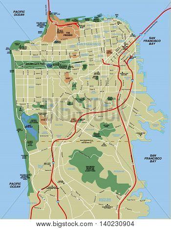 San Francisco County Map