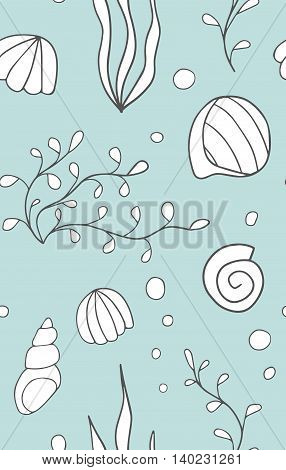 Hand drawn seamless pattern. Endless texture can be used for wallpaper, textile, pattern fills, web page background.