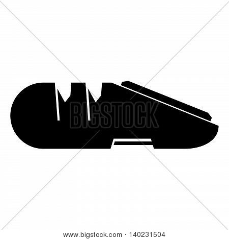 Knife sharpener ( shad picture ) on white
