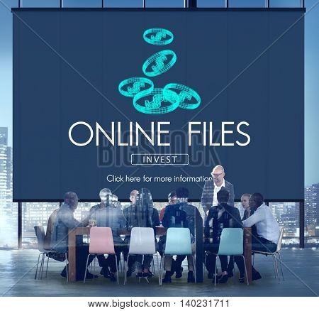 Onine Files Streaming Computer Connection Concept