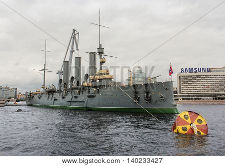 St. Petersburg, Russia - 16 July, The legendary cruiser