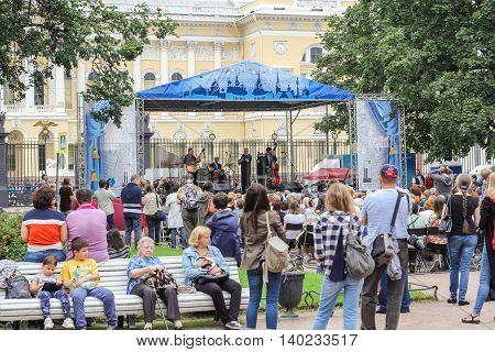 St. Petersburg, Russia - 23 July, Jazz Festival