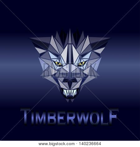 vector illustration abstract portrait of a timberwolf