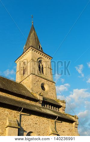 Detail of French church in the Limousin