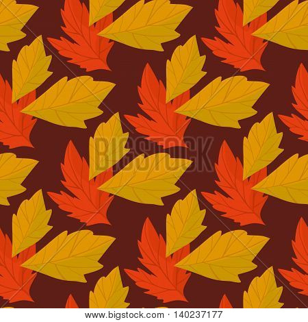 Autumn abstract background with fall leaf vector illustration