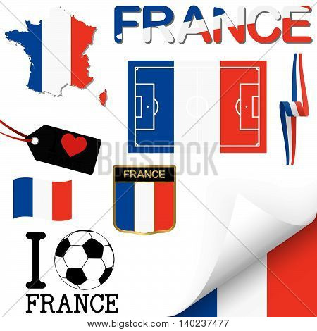 collection of france icons for europe soccer game
