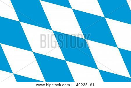 Flag of Free State of Bavaria - the land in the south and southeast of the Federal Republic of Germany
