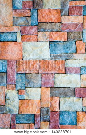 Pattern of Modern stone Brick Wall Surfaced background