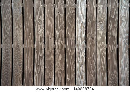 Vintage wood fence background texture with knots