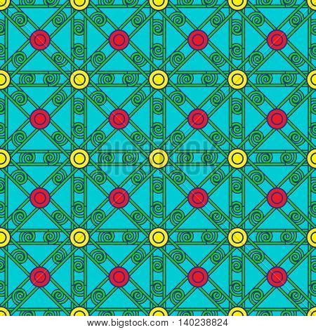 Abstract geometric colorful seamless pattern for background