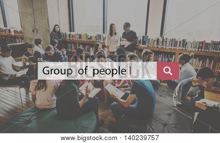Group People Community Cooperation Corporate Concept