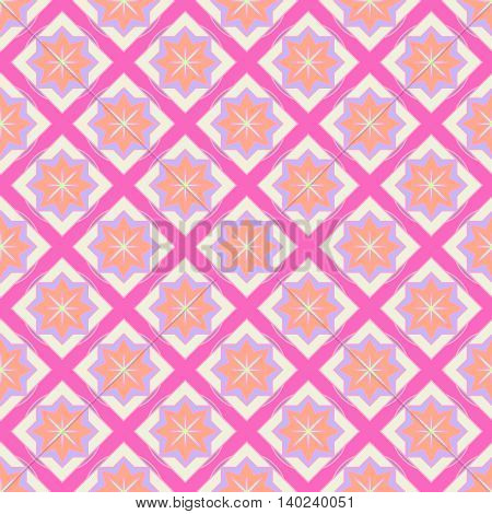 Multicolored geometric traditional new seamless pattern for background