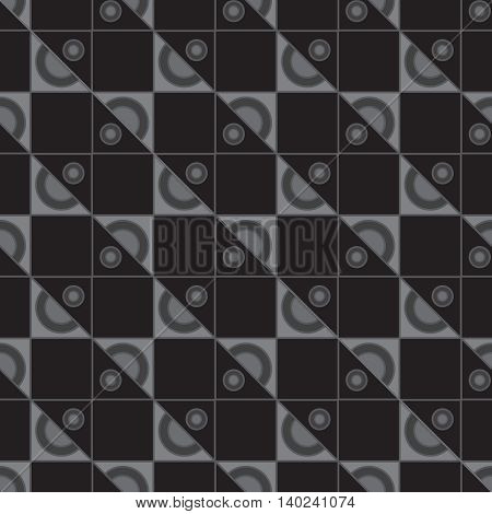Black and white geometric new seamless pattern for background