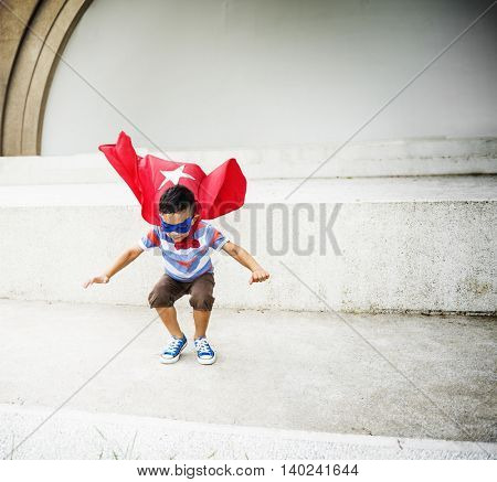 Kid Dressup Superhero Fly Concept
