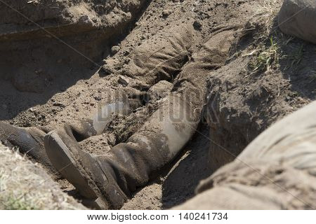 Conceptual Image Of Violence And Crime, Dead Body