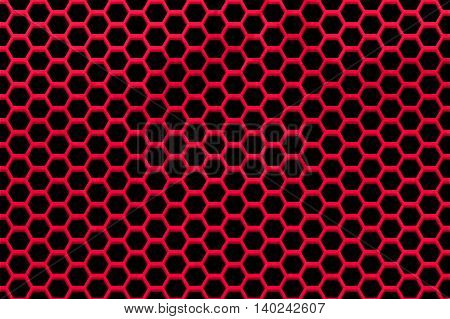 black red metallic mesh background and texture.