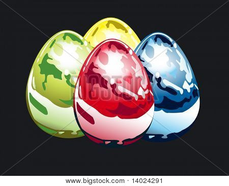 Easter metallic eggs