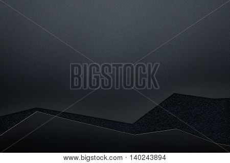 luxury metallic wall. Black metal background and texture. modern design for business card. 3d illustration.