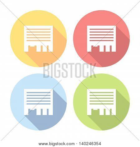 Advertisement Paper Sheet Flat Icons Set