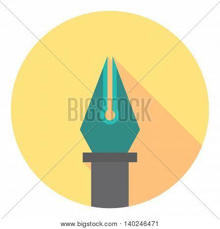 Ink Pen Tool Flat Pictogram