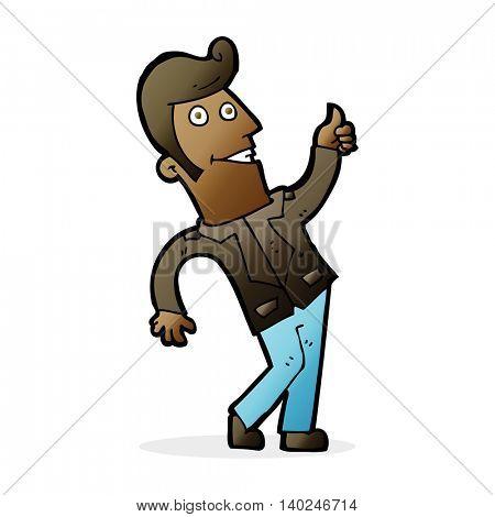 cartoon man giving thumbs up sign