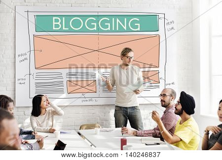 Blogging Blog Social Media Networking Internet Connecting Concept
