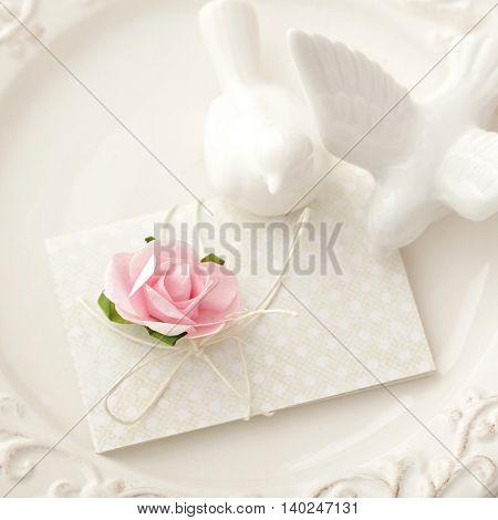 name card on wedding table
