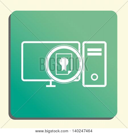 Pc Certificate Icon In Vector Format. Premium Quality Pc Certificate Symbol. Web Graphic Pc Certific
