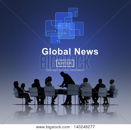 Global News Online Technology Update Concept
