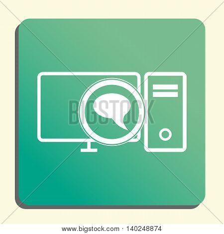 Pc Discussion Icon In Vector Format. Premium Quality Pc Discussion Symbol. Web Graphic Pc Discussion
