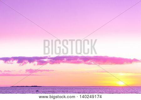 Burning Skies Sunset over Water