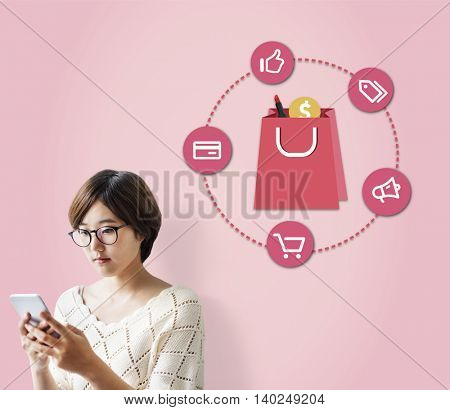 Buying Consumerism Discount Merchandising Shopping Concept